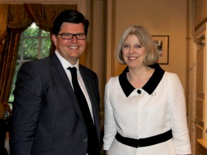 Guy Charrison with The Rt Hon Mrs Theresa May MP
